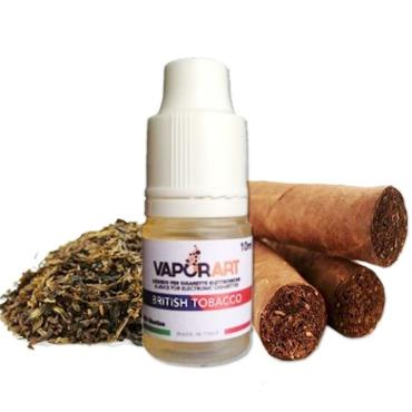 5912 - Υγρό αναπλήρωσης VAPORART British Tobacco 10ml (καπνική γεύση πούρου)