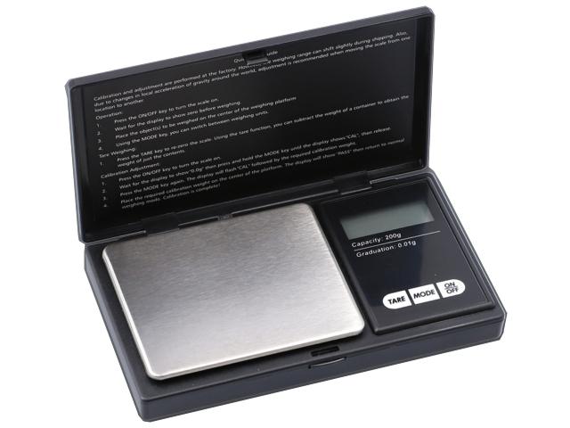 11371 - Ζυγαριά ακριβείας DIGITAL SCALE 200g x 0,01g MH PROFESIONAL MINI 661-9044